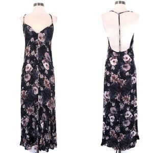 BAND OF GYPSIES Floral Open Back Maxi Dress